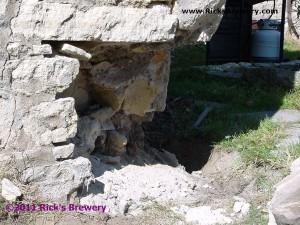 Brewery Corner masonry damage